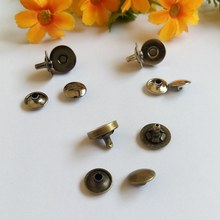 20 Sets 14mm 0.55 Magnetic Snap Purse Buttons Double Rivet Stud closure Clasp  Nickle Bronze Nickle-Black цена