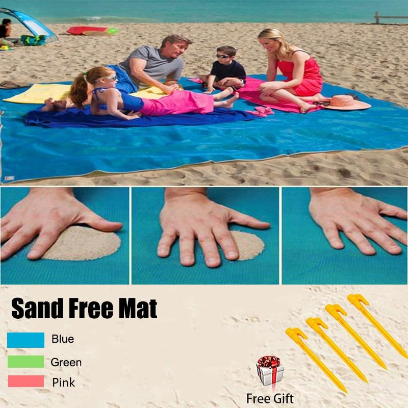 Sand Free Beach Quick Dry Mat Picnic Mats Camping Picnic Mattress Sandless Beach Blanket Protable Wind-proof Mattress Free Gift portable sand free mats for beach picnic camping