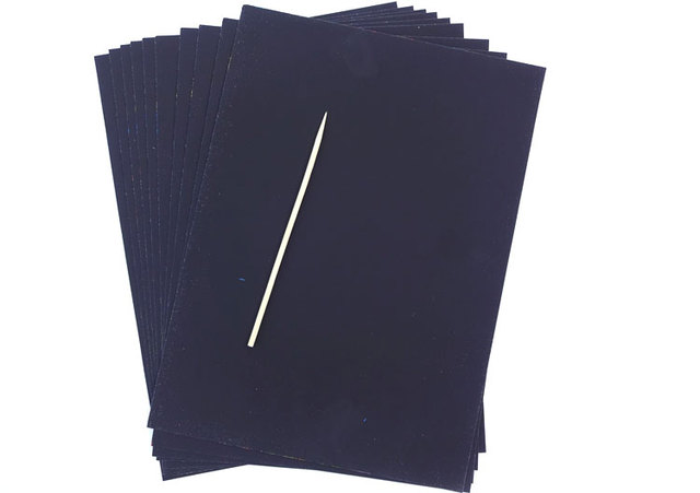 Scraping Drawing Paper Set