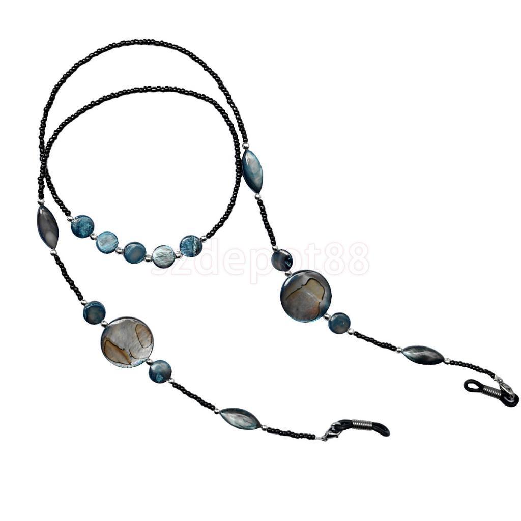 Fashion Shell Reading Glass Beaded Eyeglass Chain Sunglasses Holder Strap Neck Cord Eyewear Retainer Lanyard Necklace For Women