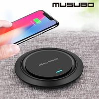 Musbo qi carregador rápido para o iphone xs max xr x telefone de carregamento acelerar 45% carregador sem fio para samsung galaxy s9 s8 mais xiaomi