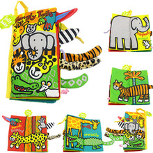 cute animal tails cloth books soft baby toys toddler infant early development children learning educational activity book rustle