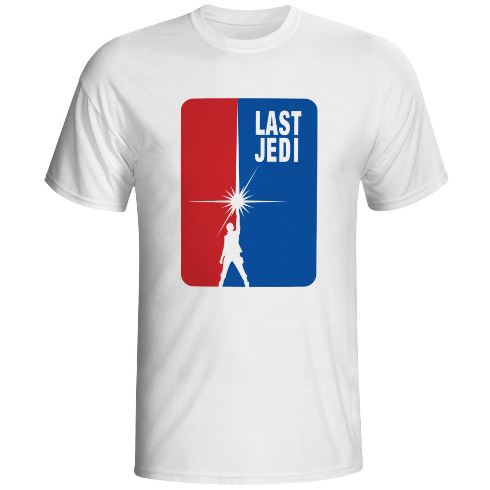 LAST JEDI Brand T Shirt Video Game Print Novelty Funny T-shirt Rock Anime Design Man Soft Comfortable White Tee Shirts