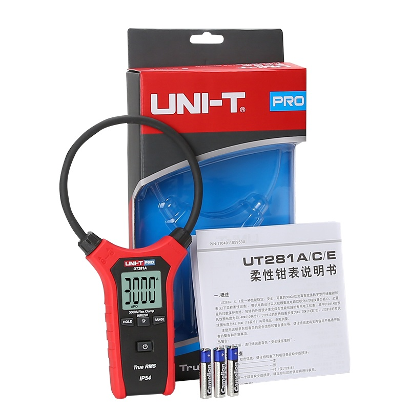 Flexible Clamp Meter UN-T UT281A true rms clamp meter AC Current multimeter with Data Hold Backlight display ленточный зажим piher hold all strap clamp 30013