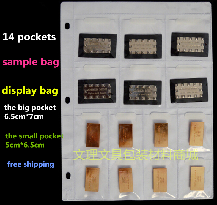 14 Pockets Samples Bag,A4 Multi Sample, Multi Display Bag, A4 Plastic Bag, Free Shipping