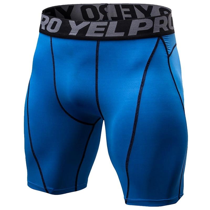 CYSINCOS New Quick Dry Elastic Gym Fitness   Shorts   Men Compression Skinny   Shorts   Bermuda Slim Fit   Short   Pants For Male   Shorts