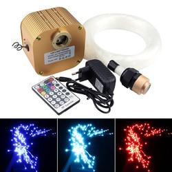 16W Twinkle RGBW światłowód led Star zestaw oświetleniowy sufitowy mieszany 430 nici (0.75mm + 1mm + 1.5mm) * 4M z 28Key kontroler rf w Oświetlenie światłowodowe od Lampy i oświetlenie na