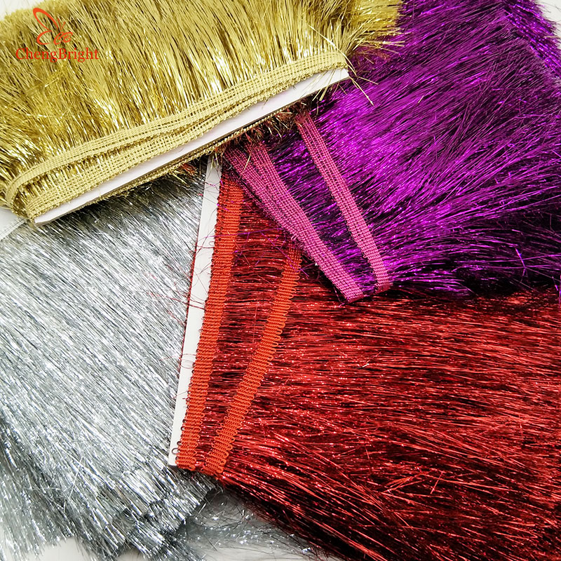ChengBright 1 Yards Plastic Lace Tassel Fringe Lace Trim Ribbon Sew Latin Dress Stage Garment Curtain Accessories 20cm Width Diy