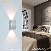 Modern LED Wall Light 6W Aluminum Wall Sconce Stairs Bedroom Lighting Home Decor Indoor LED Wall Lamp Input AC85-265V