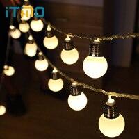 Itimo سلسلة الجنية أضواء المصابيح 20 المصابيح الكرة سلسلة الأنوار غلوب الطوق ل حزب هالوين عيد الديكورات عطلة الإضاءة