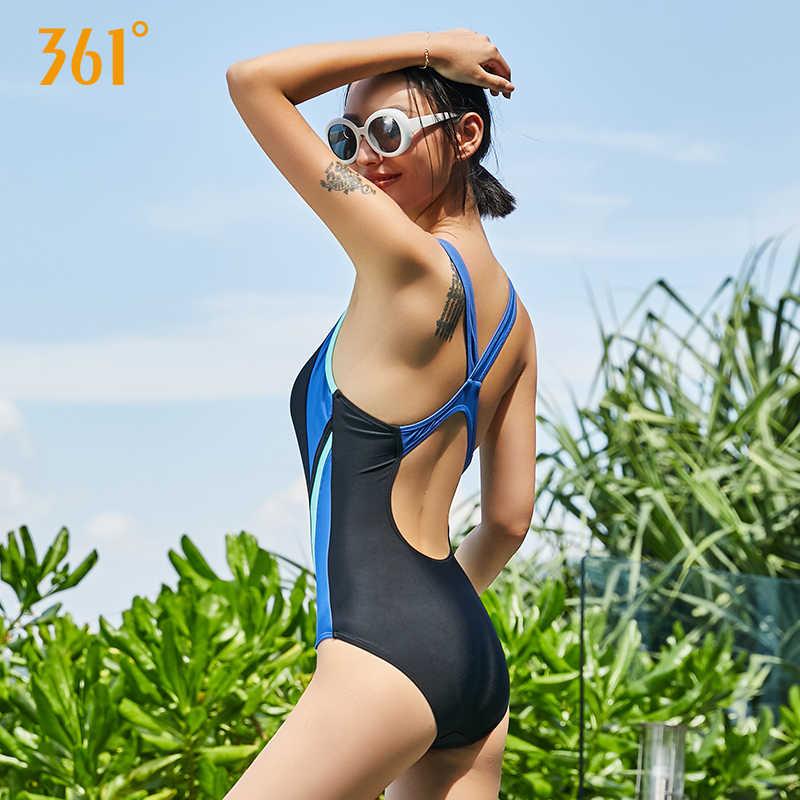 361 Женская одежда для плавания, спортивный Цельный купальник, женский купальный костюм без косточек, купальный костюм для бассейна, Женский Монокини