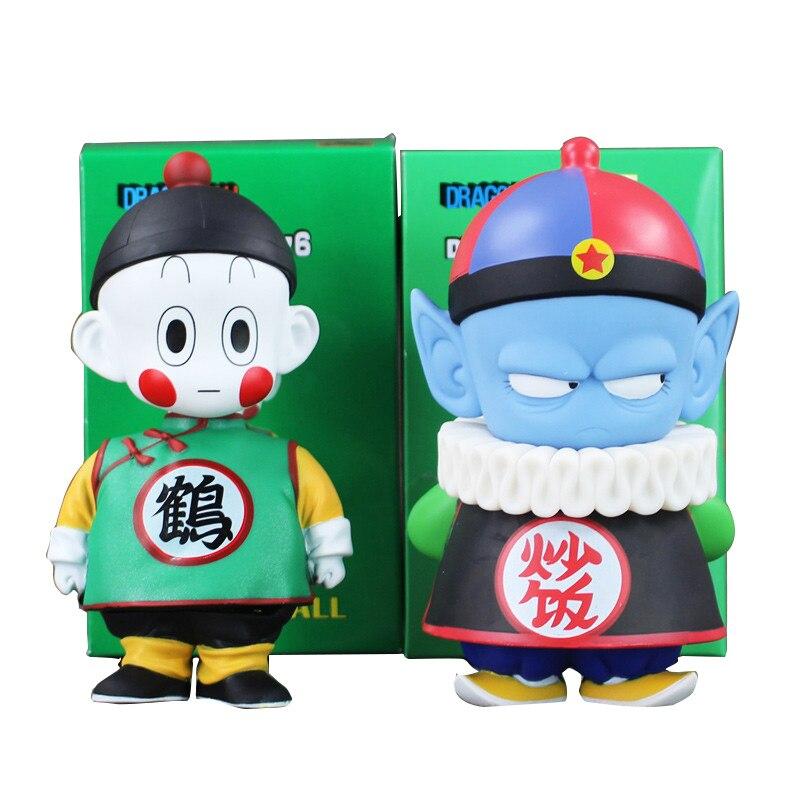 6 15.5cm Anime Dragon Ball Z Chiaotzu Pilaf Childhood PVC Action Figure Collection Model Toy Gift for Children цена