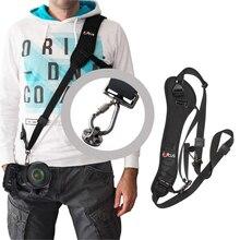 Correia da câmera rápida rápida ombro sling pescoço para câmera slr dslr canon eos 7d 60d 1100d 1000d 350d 600d nikon d7000 d3000