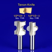 2Pcs Tongue Groove Router Bit Set 1 2 Inch Shank Tenon Knife Woodworking 1145 1146