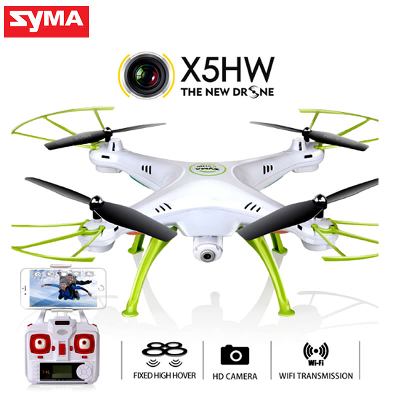SYMA X5HW RC Drone With Camera Quadrocopter Wifi FPV HD Real-time 2.4G 4CH RC Helicopter Quadcopter RC Dron Toys (X5SW Upgrade) 2016 syma x5hw 2 4g 4ch fpv drone with camera hd wifi real time transmission aerial quadcopter 3d roll vs syma x8c fast shipping