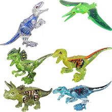 6pcs/set Jurassic Dinosaur Building Blocks Tyrannosaurus Action Figures Bricks Toys
