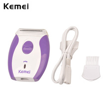 Kemei Depilatory Women Epilator Electric Lady Shaver Bikini Shaving Razor Hair Removal Trimmer Face Body Underarms Leg Arm 4243