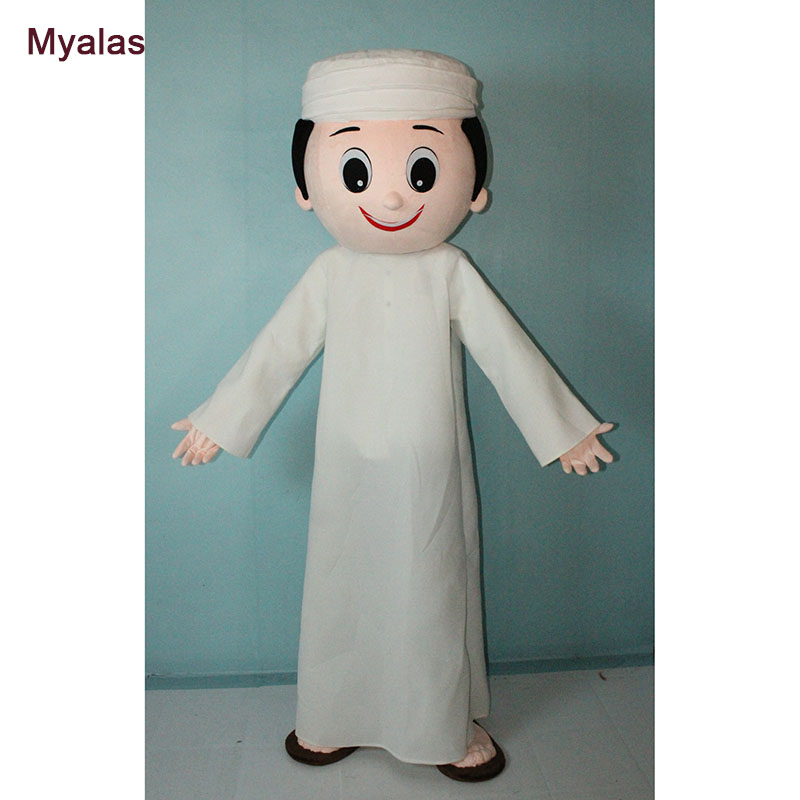Arab Boy Mascot Costume for Adults Arab Boy Mascot Costume And Halloween Costume Customize Cheap Carnival Costumes