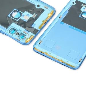Image 4 - オリジナル xiaomi redmi 注 6 プロバックカバーハウジング redmi 注 6 プロ後方バッテリードアカメラガラスサイドキー交換部品