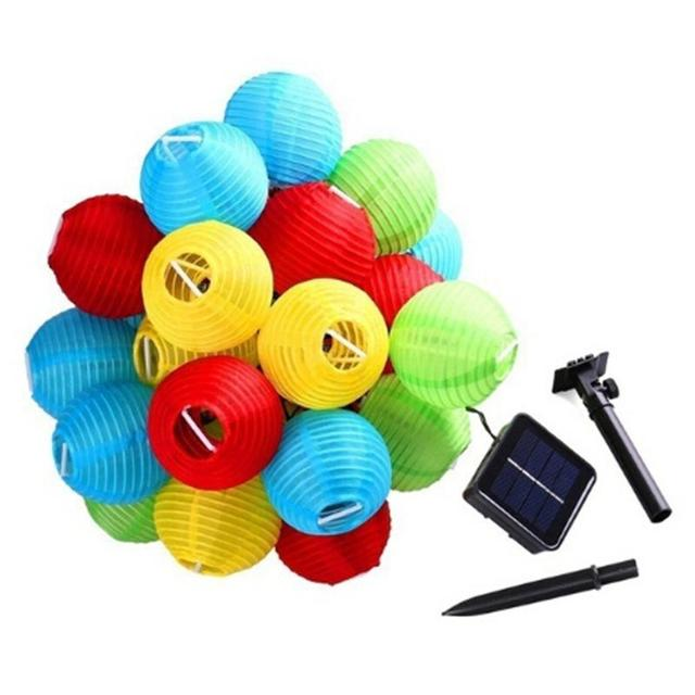 Kaigelin 30 LED Solar String Lights Lantern Ball Outdoor Lighting Solar Lamp Fairy Globe Christmas Decor Light for Party Holiday 1