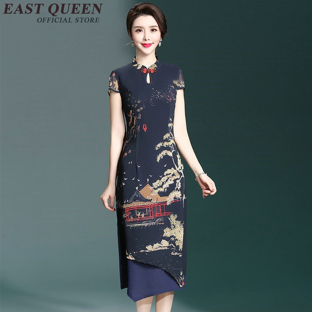 cc93ab5d260893 Chinese oosterse jurken chinese jurk qipao moderne qipao jurk oudere  vrouwen kleding AA2592 Y