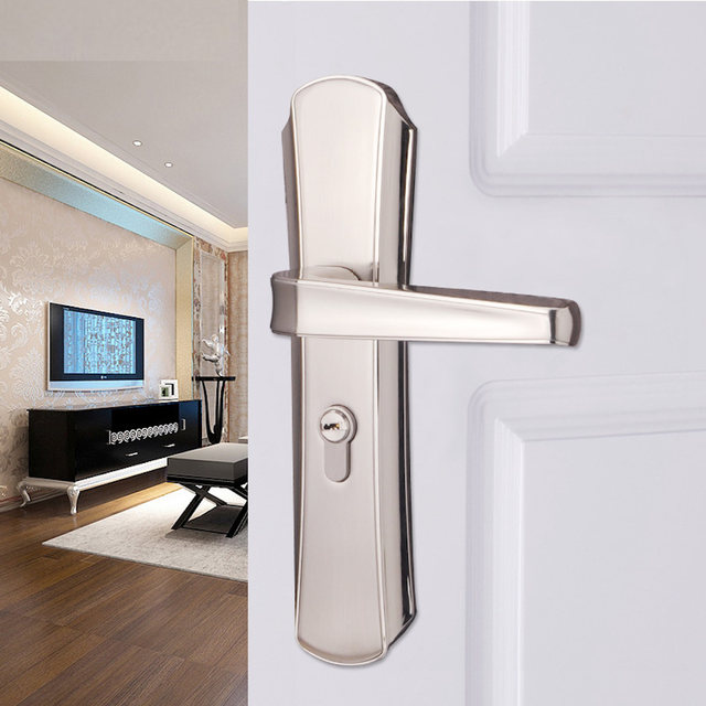 Online Shop Interior Door Mortise Lock Handle Euro Cylinder Hardware