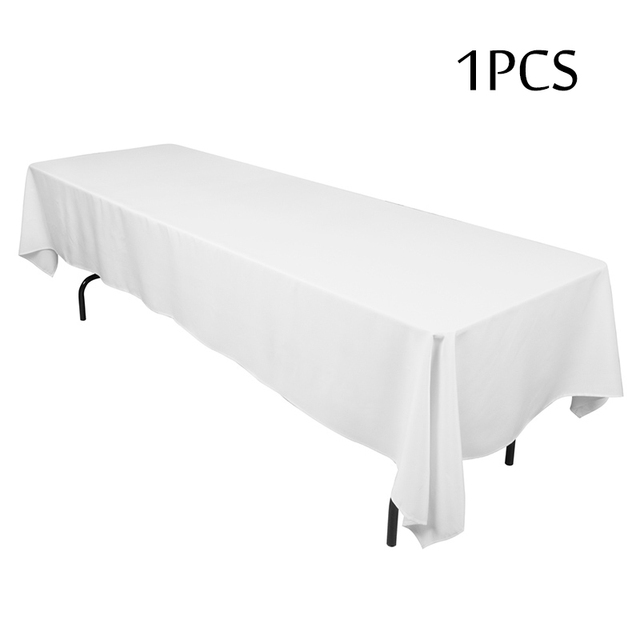 Factory Outlet 1PC Polyester Square Tablecloth For Weddings Hotel Decor  Rectangualar Table Cloth White Table Linens