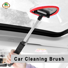 MSJO Auto Glass Cleaner Car Telescopic Microfiber Clothes Scrubber Windshiel Window Wiper Dust Scrap Car Window Cleaning Brushes