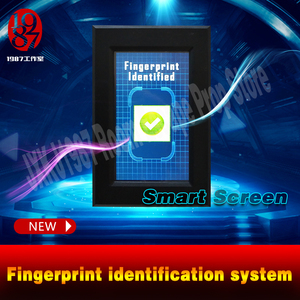 Image 3 - Parmak izi tarayıcı prop kaçış odası bulmaca akıllı ekran parmak İzi tanıma sistemi tarama parmak izi kilidini JXKJ1987