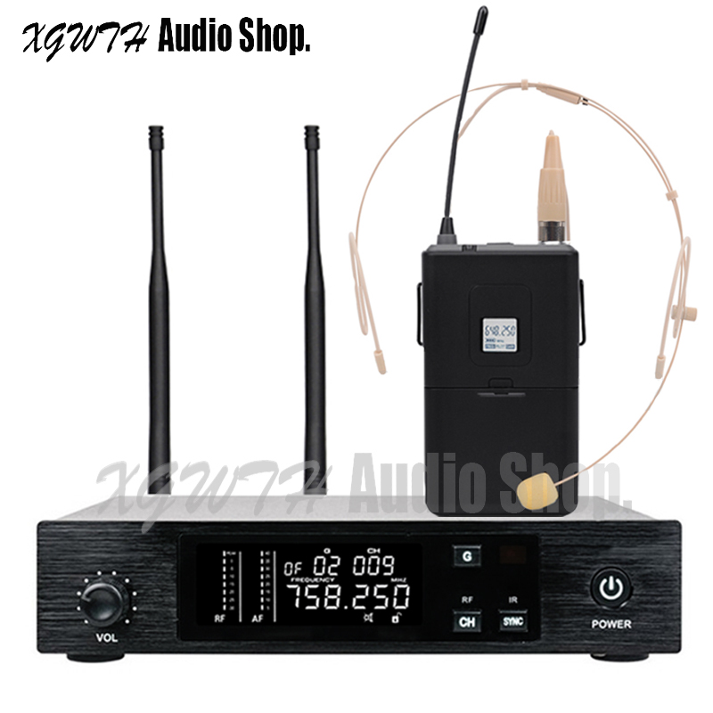 Stage Performance QLX Vocal UHF Wireless Microphone System Radio ME3 Headset Lavalier Laval Handheld Karaoke Mic Microfone QLXD4