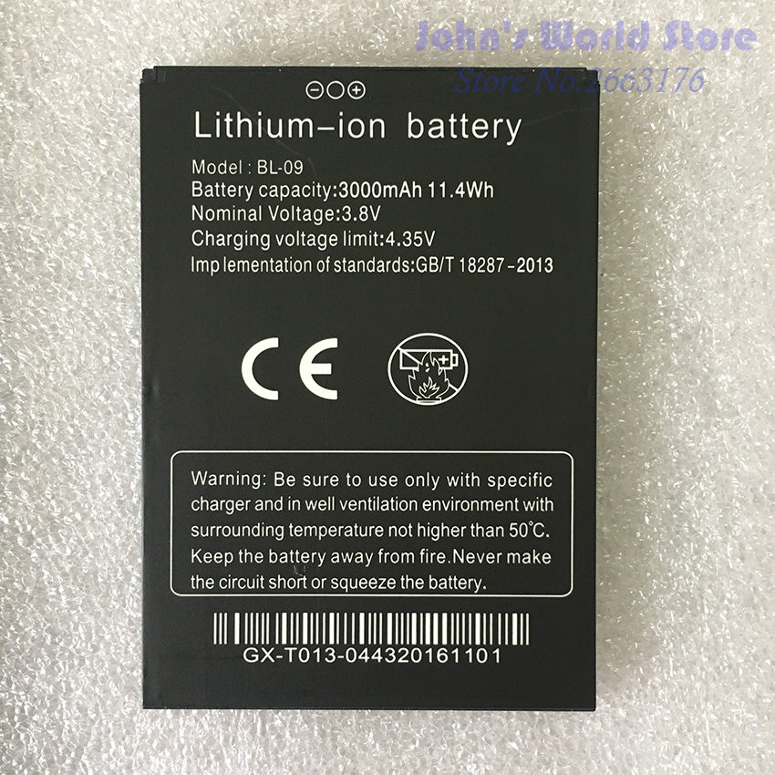 100% Original THL T9 Pro Battery 3000mAh Battery BL-09 for THL T9 plus Smartphone Replacement Mobile Phones