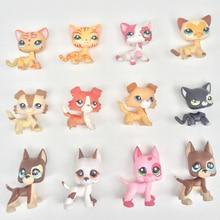 10pcs lot pet shop lps toys animal short hair cat collie great dane dachshund cocker spaniel