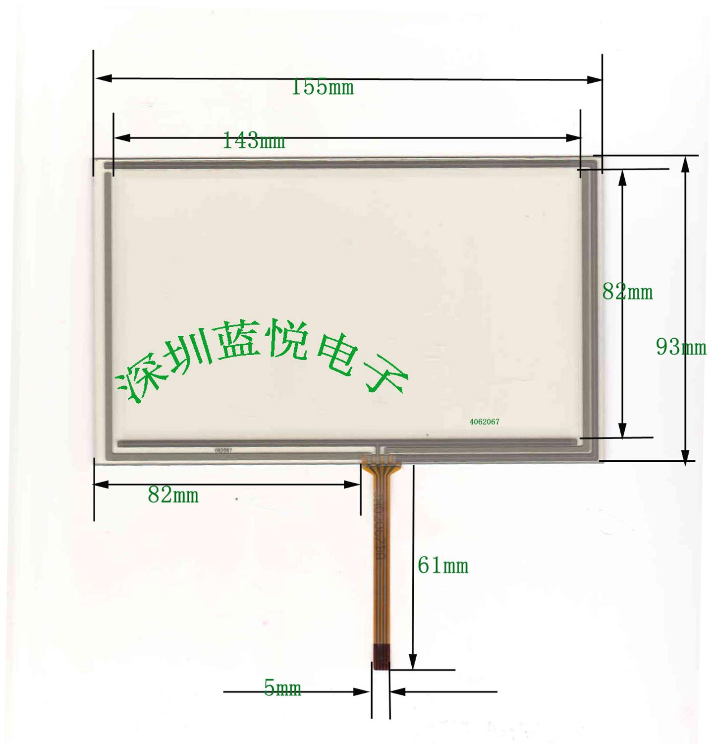 6.2 inch four wire resistor, touch screen resistor, touch screen ...
