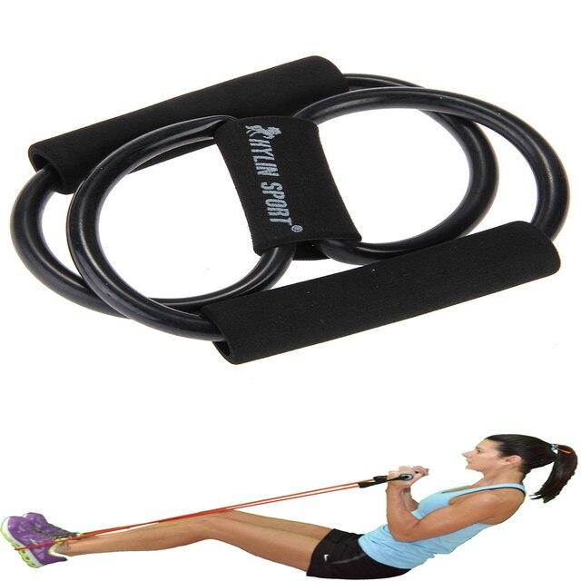 TOMOUNT Yoga Force Formation 15 pcs Bandes de Résistance Set Fitness Tube  Yoga Bande Stretch Exercice b1f9bbc6e7c