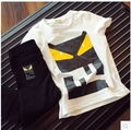 children t shirts  summer 2015 t shirts for girls boys white pattern fashion kd 6 kids new arrivals casual cotton