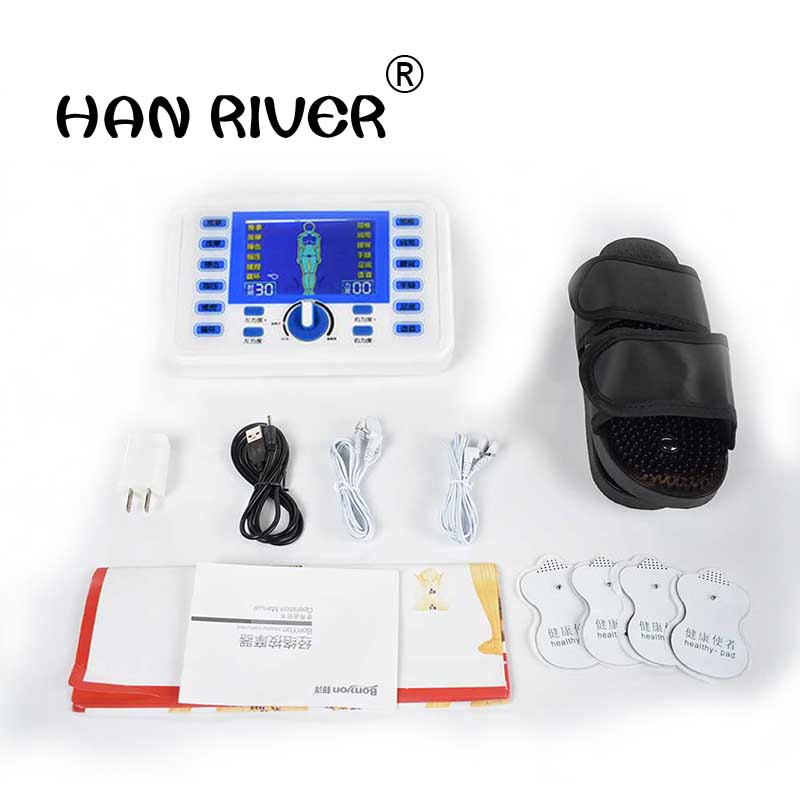 Intermediate frequency digital pulse acupuncture massager multi-function meridian therapy cervical lumbar therapeutic apparatus multifunctional acupuncture meridian therapy instrument if cervical lumbar body electric massager massage apparatus