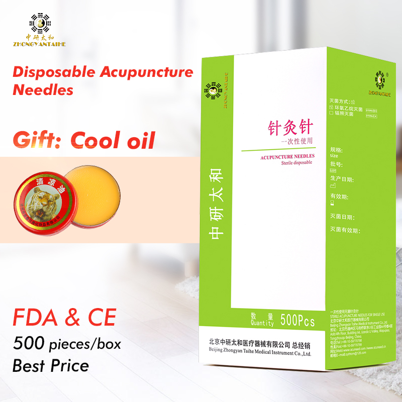 2018NEW 500pcs/box Zhongyan Taihe Acupuncture Needle Disposable Needle beauty massage ne ...