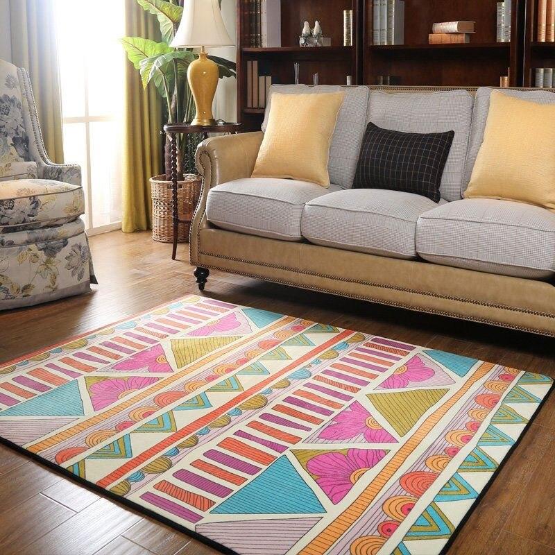 120X170cm Retro Folk-custom Thickening Baby Crawling Mat Anti-skid Carpets For Living Room Bedroom Rug Home Decoration Supplies