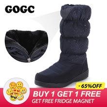 Купить с кэшбэком GOGC 2019 Warm Women Boots Winter Mid Calf Big Plus Size Fur Winter Boots Women Fashion Snow Boots Brand New Winter Shoes Women
