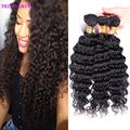 Peruvian Deep Wave 4 Bundles 7A Unprocessed Peruvian Virgin Hair Deep Wave Cheap Human Hair Weave Virgin Peruvian Hair Bundles