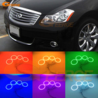 For INFINITI M35 M45 2005-2010 Xenon headlight Excellent Multi-Color Ultra bright RGB LED Angel Eyes kit