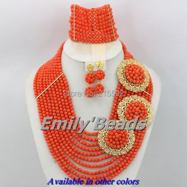 Red/Pink Costume African Jewelry Sets Nigerian Wedding African Beads Jewelry Set Bridal Jewelry Set Free Shipping CJ165 amazing red nigerian wedding african beads jewelry set costume african jewelry sets bridal beads necklace free shipping abl001