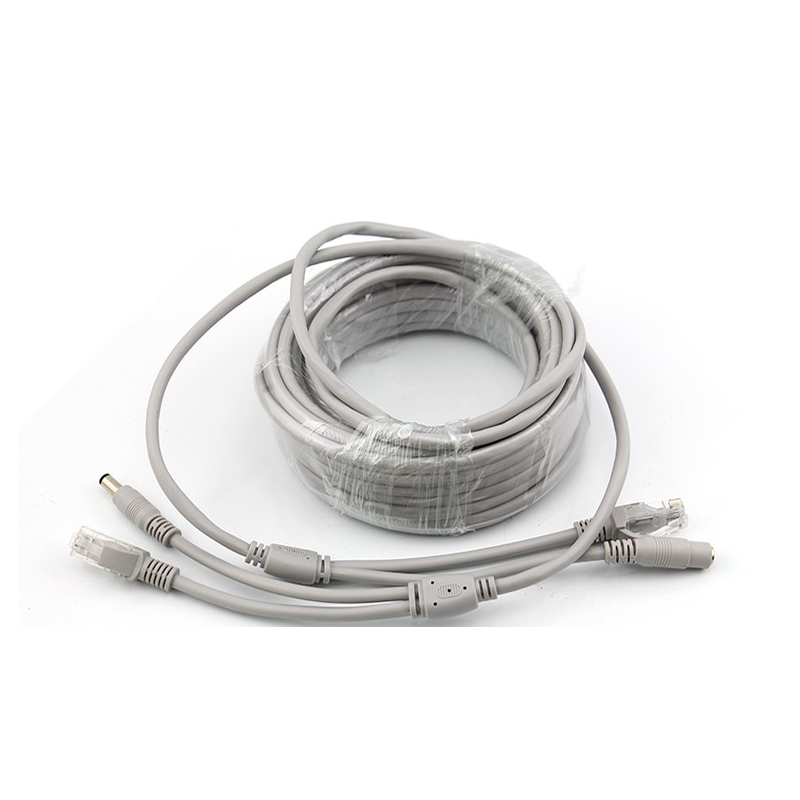 20m RJ45 + DC 12V Power Lan Cable Cord Network Cables for CCTV network IP Camera
