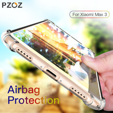 PZOZ For Xiaomi Max 3 2 Mi Max2 Max3 Case Shockproof Transparent Clear TPU Soft Silicone Shell Phone Protection Case Back Cover(China)