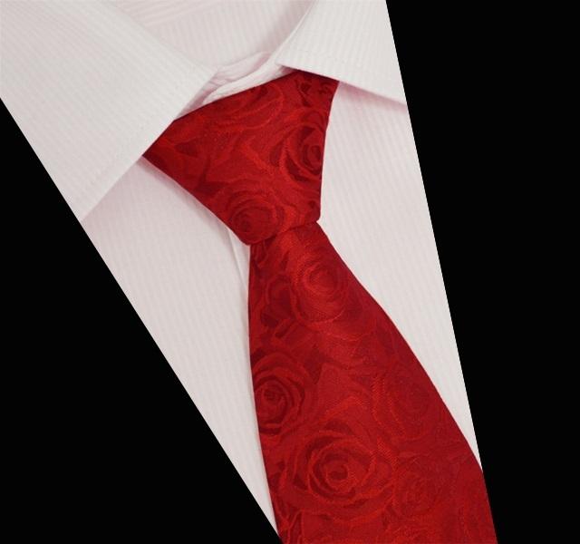 100% Rosas De Seda Vermelho Do Pescoço Laço Do Casamento de Alta Qualidade Laços para homens 2016 Nova Moda 10 cm de Largura Floral Auto Gravata Gravata de Seda