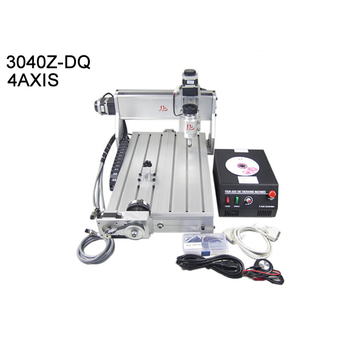 CNC cutting machine 3040 mach3 control with totary axis work area 400X300Xmm Ball screw 4axis wood router cnc routers for wood engraving mach 3 control system usb 600x900x100 mm working area