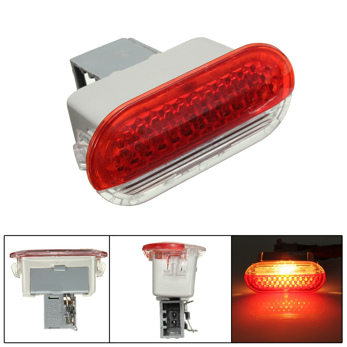 car auto door interior courtesy door warning light door projector lamp red white for vw golf mk4