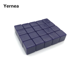 Yernea 50Pcs High-quality 16mm Blank Dice Acrylic Purple Standard Cube DIY and Carving Children Teaching Supplies