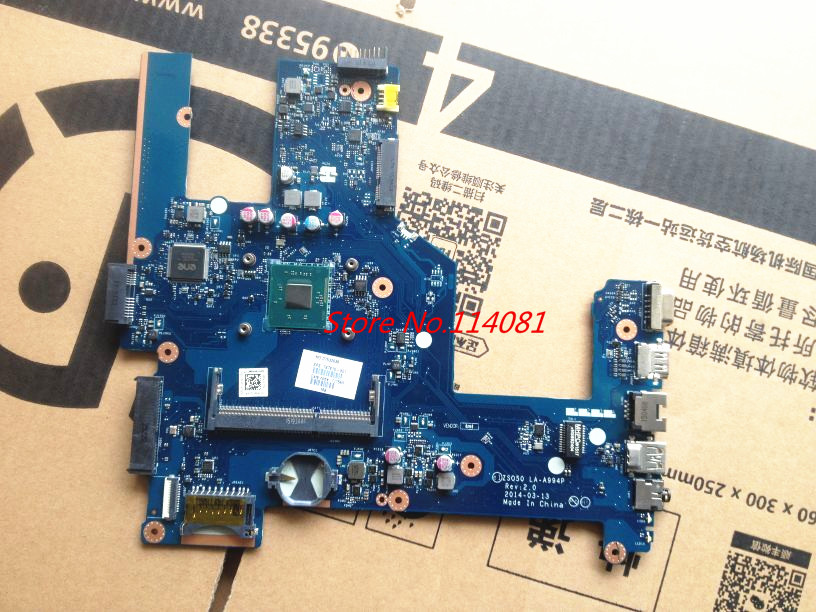 LA-A994P rev 2.0 for HP 250 G3 notebook motherbaord 787810-001 / 787810-501 CPU N2840 15.6 PC Mainboard
