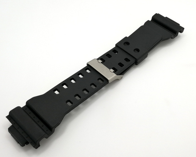 Watch Accessories 16mm Rubber Watchbands for g-shock watch Men Women Black Sport Diving Silicone Watch Strap Band Metal Buckle